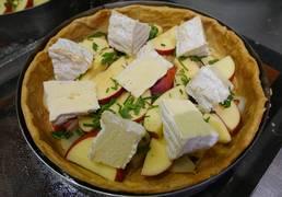 tarte camembert pomme