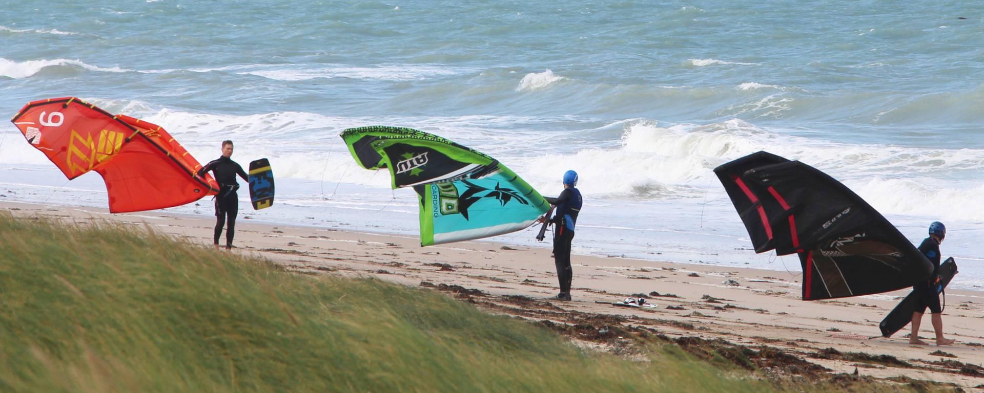 Kite surf à Bréhal