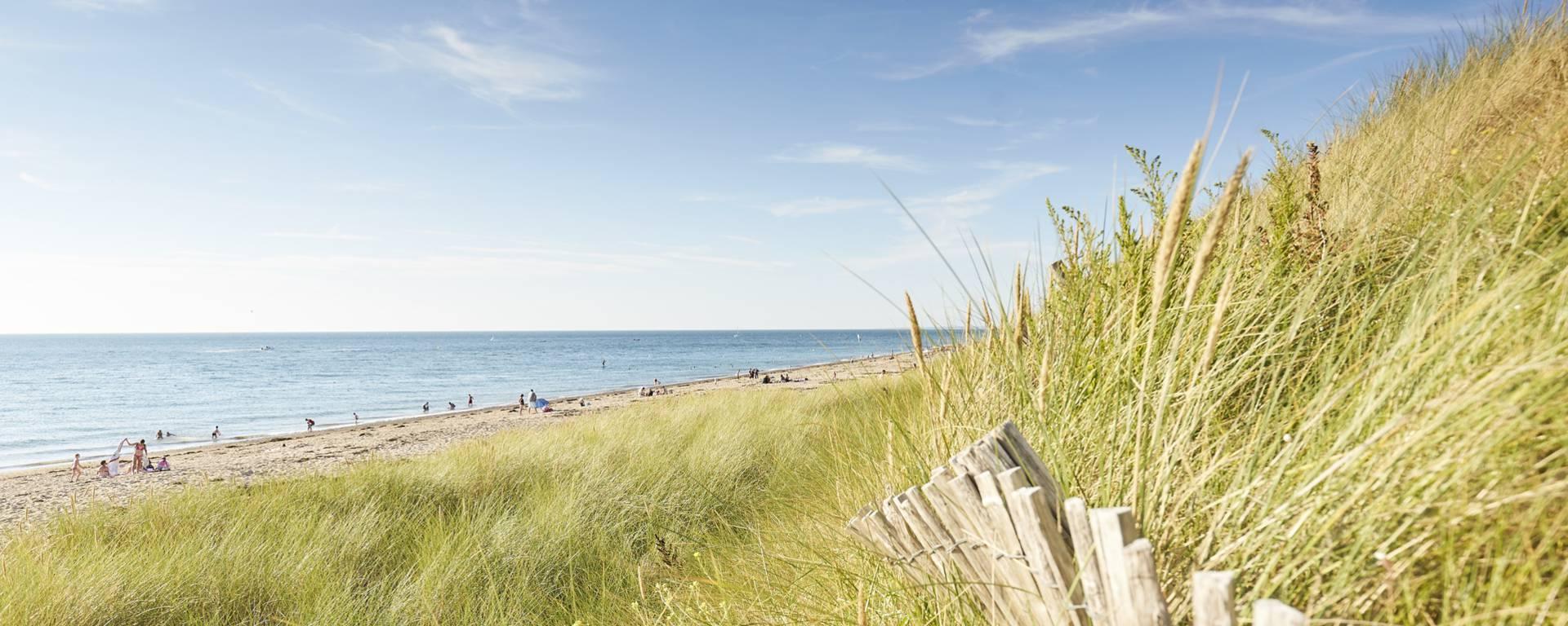 Les dunes de Bréville-sur-Mer constituent un site naturel protégé, entourées de prairies et de paysages bocagers.