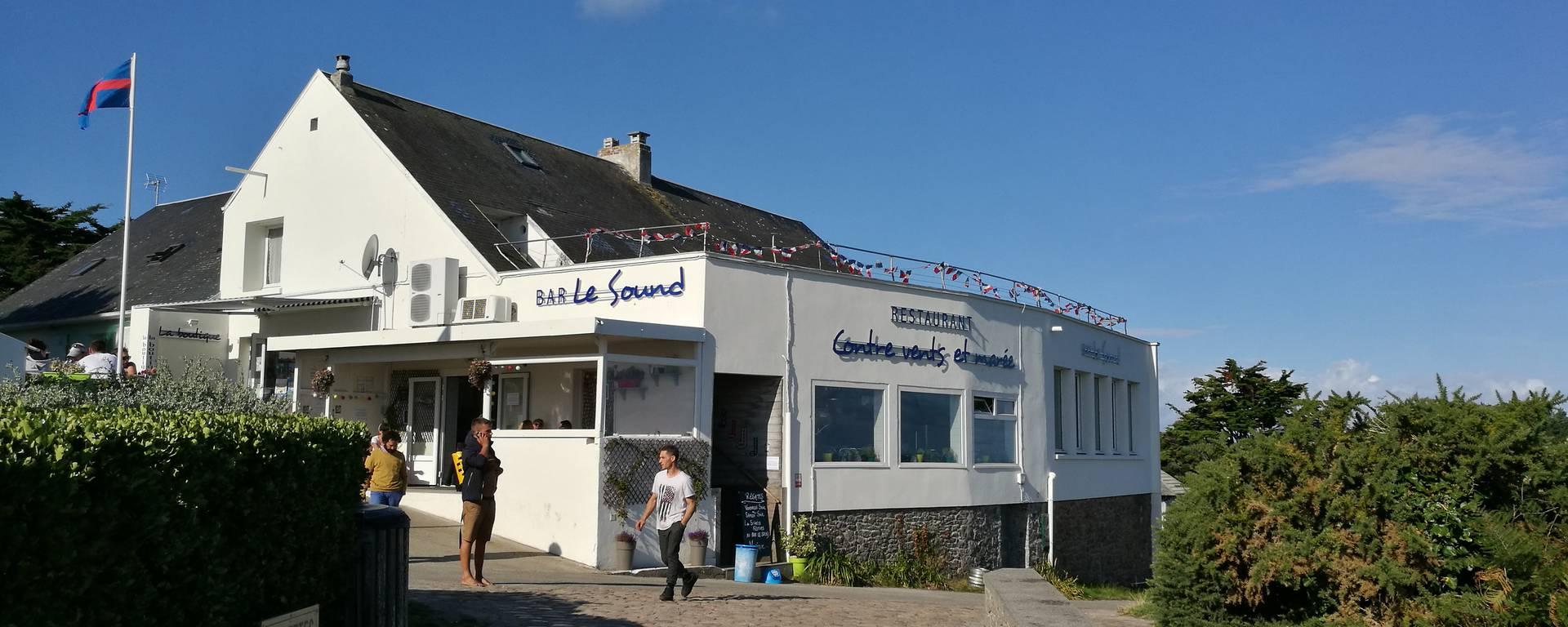 Le Sound à Chausey, bas, restaurant vue mer