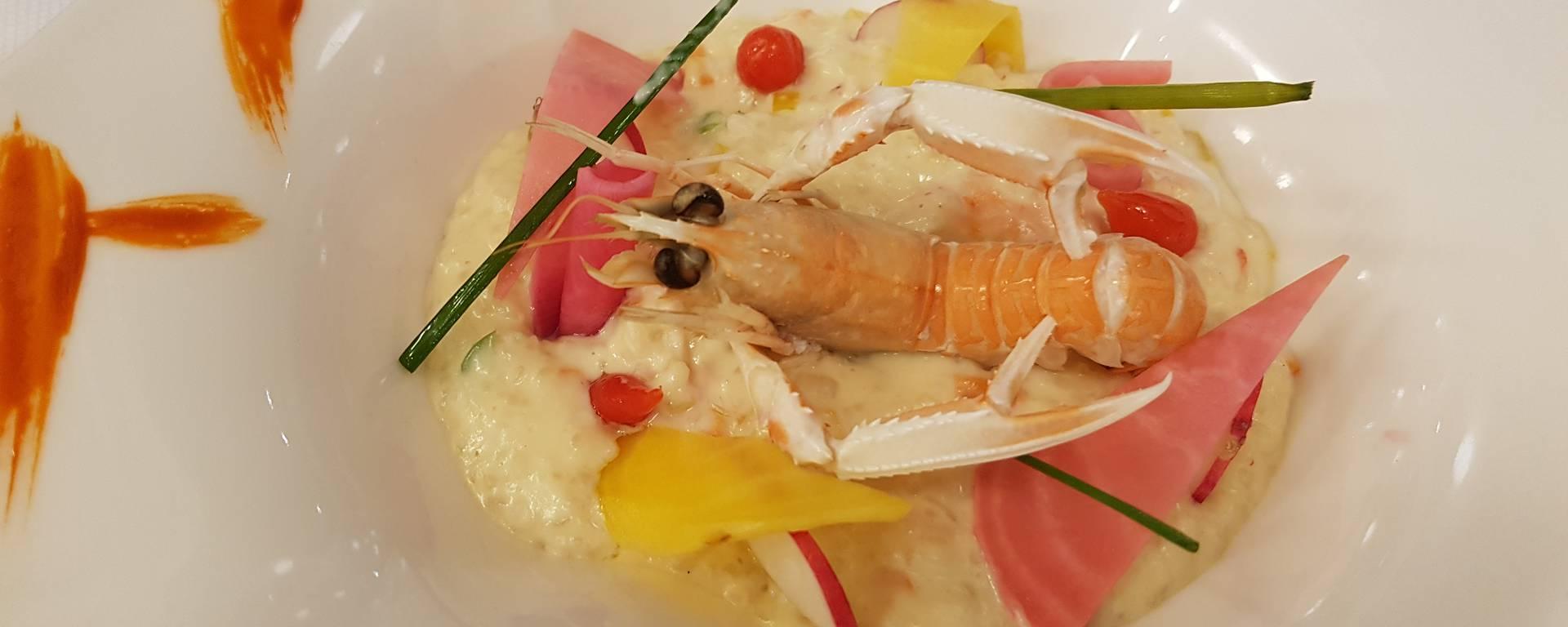 Risotto de riz Thaï aux crevettes et petits légumes croquants