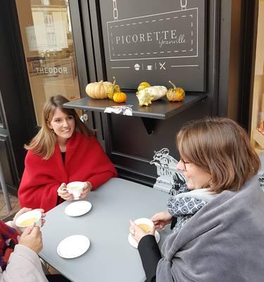 Thé en terrasse, picorette, normandie, manche
