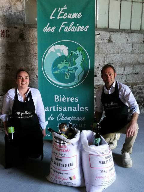Adèle et Martial, les brasseurs de l'Ecume des falaises