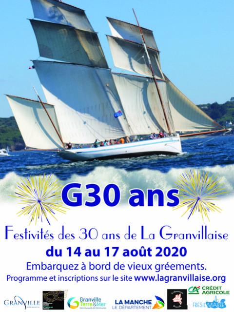 affiche granvillaise 30ans