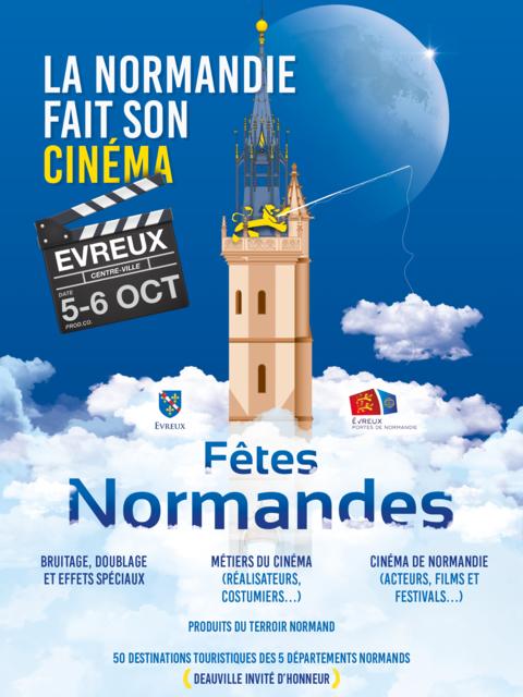 affiche Fêtes Normandes Evreux 2019