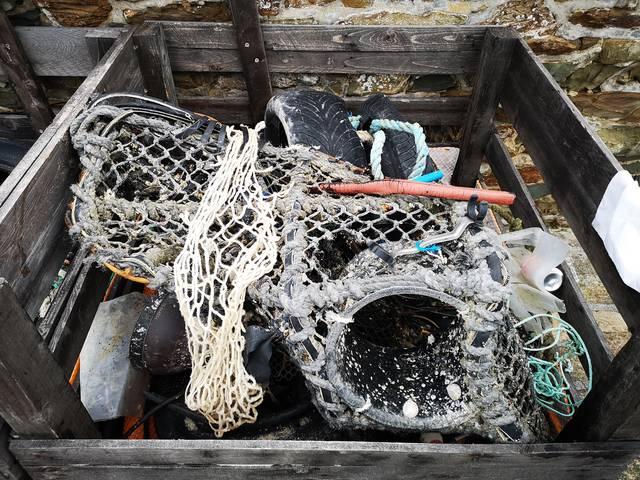 déchets grandes marées normandie manche granville