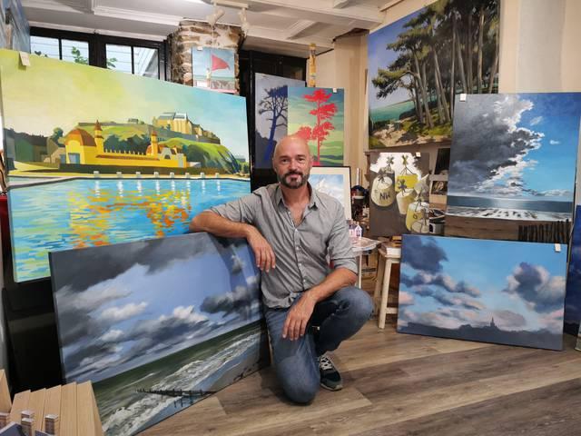 Sylvain Allaire ; peintre ;