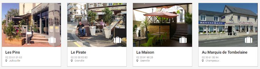restaurants affichage site web destination granville terre & mer