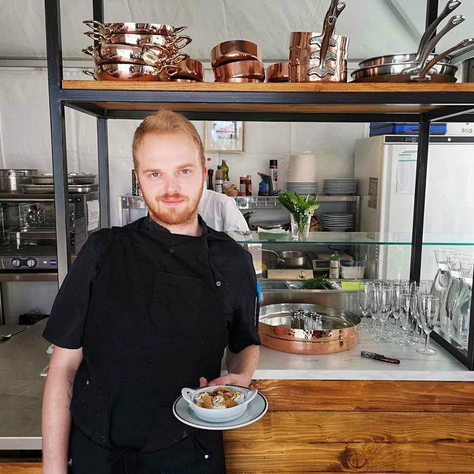 Chef cuisinier jardin Dior gastronomie restaurant